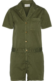 The Engineer Shortall cotton-twill playsuit