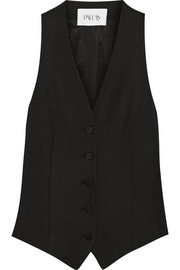 Regulus satin-paneled crepe vest