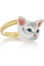 + Nach gold-plated porcelain ring