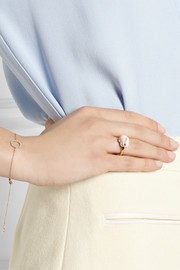 Finds + Nach gold-plated porcelain ring