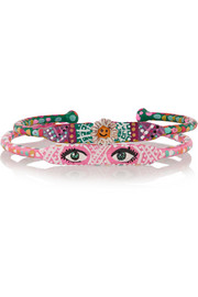 + Susan Alexandra Set of two Look and Sister Act hand-painted bracelets
