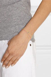 Finds + Vanessa Tugendhaft Identity woven, silver and diamond bracelet