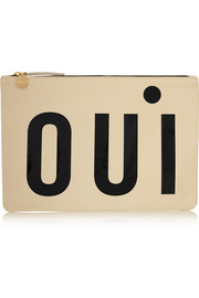 Oui Non leather clutch