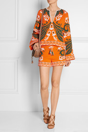 Emilio Pucci Intarsia cotton-blend terry shorts
