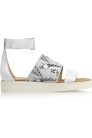 + Peter Pilotto cutout leather sandals