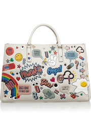 Anya Hindmarch Ebury Maxi Stickered-Up leather tote
