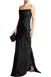 Brit silk-satin maxi dress
