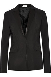 Grace MMXIII August satin-trimmed crepe tuxedo jacket