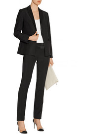 August satin-trimmed crepe tuxedo jacket