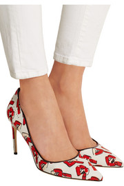 + Donald Robertson Alis Lips printed canvas pumps