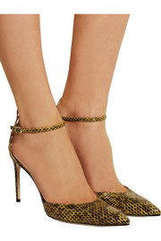 Celeste elaphe pumps