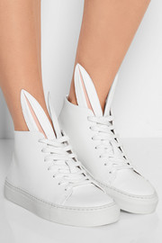 + Minna Parikka Bunny leather high-top sneakers