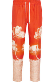 Allyce printed silk straight-leg pants
