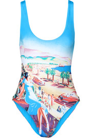 Almada Traveller printed swimsuit