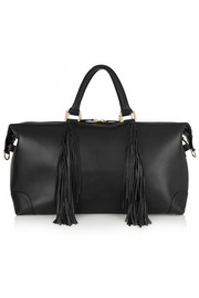 The Voyager fringed leather weekend bag