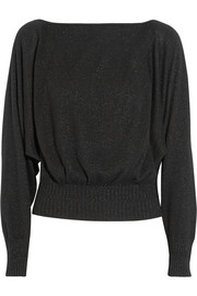 Tamara Mellon Metallic cashmere-blend sweater