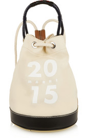 Ruck leather-trimmed canvas bucket bag