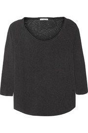 James Perse Inside Out linen and cotton-blend jersey top