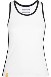 Racer-back stretch-jersey tank