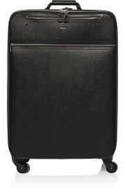 Evolution textured-leather suitcase