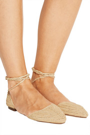 Woven straw flats