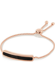 Baja rose gold-plated onyx bracelet