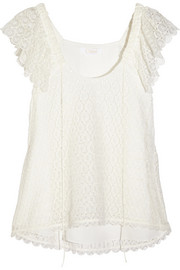 Chloé Crocheted lace top