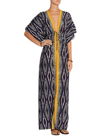 Vix Moorish Val printed cotton and silk-blend dress