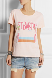 Solid and Striped + Donald Robertson St Barths printed cotton T-shirt