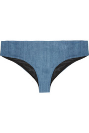 James stretch-denim briefs