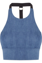 James stretch-denim bra