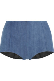 James high-rise stretch-denim boy shorts