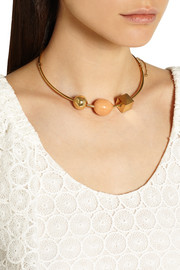 Chloé Gold-tone marble necklace