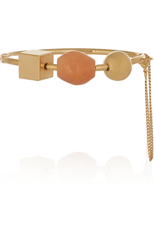 Chloé Gold-tone marble bracelet