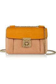 Elsie medium two-tone textured-leather shoulder bag