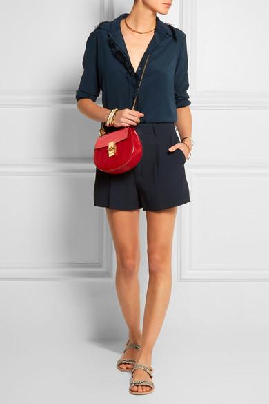 Chlo¨¦   Drew mini textured-leather shoulder bag   NET-A-PORTER.COM