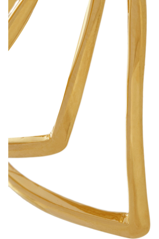 Arme De L'Amour Reverse Chevron gold-plated ring