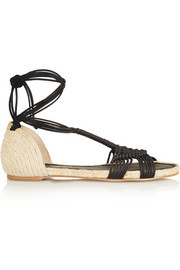 Macramé and jute sandals