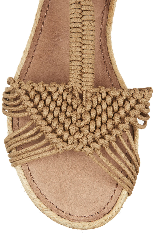 Paloma Barceló Macramé and jute sandals