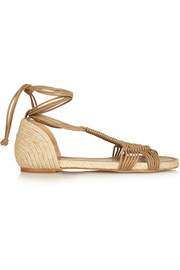 Paloma Barceló Macramé and jute sandals