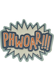 Anya Hindmarch Phwoar!!! textured-leather adhesive sticker