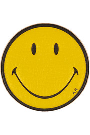 Anya Hindmarch Smiley Face textured-leather adhesive sticker