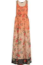 Embellished georgette maxi dress