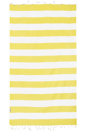 Set of four striped woven cotton towels