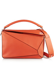 Puzzle large leather shoulder bag