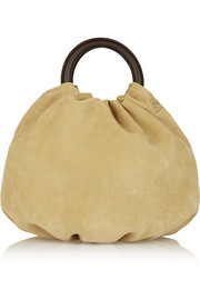 Bounce large suede and leather tote