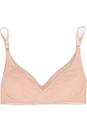 Smooth Tactel® and jersey nursing bra