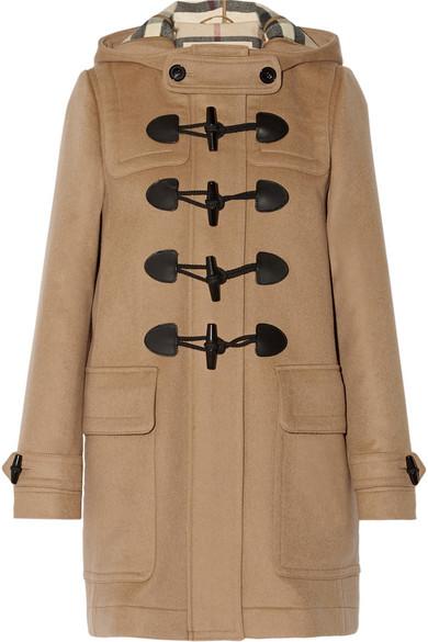 Burberry - Hooded Wool-felt Duffle Coat - Camel