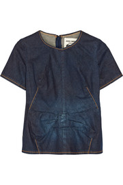 Junya Watanabe Bow-embellished denim top