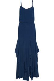 Ruffled georgette maxi dress